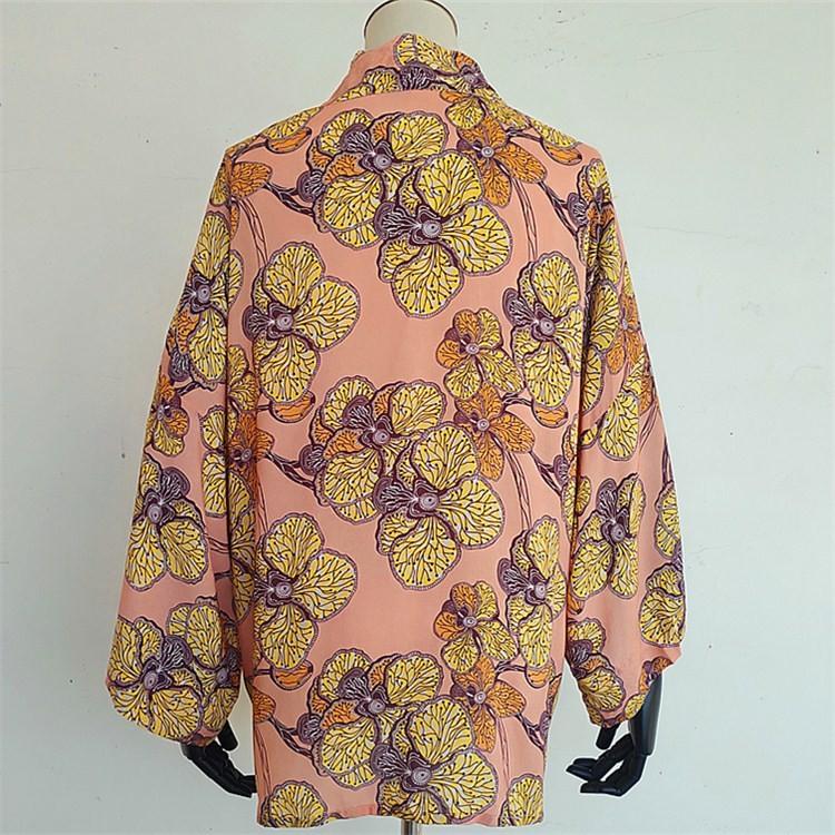 Kimono maker digital printed custom kimono robe dress