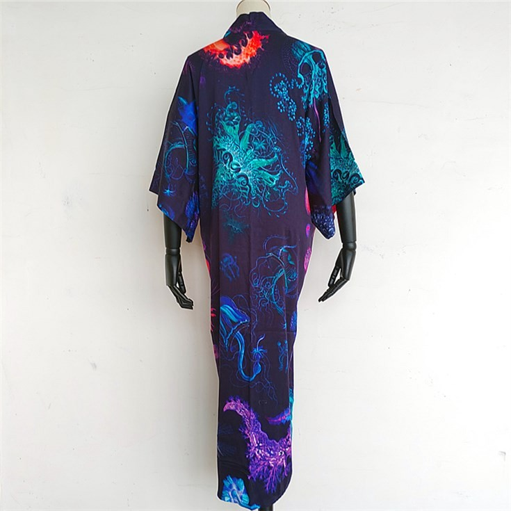 Kimono maker digital printed custom photos on the best kimono robe