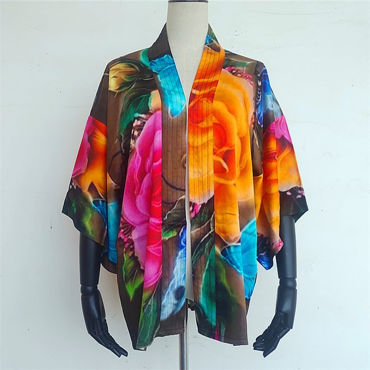 Scarf manufacturer custom made short kimono cardigan