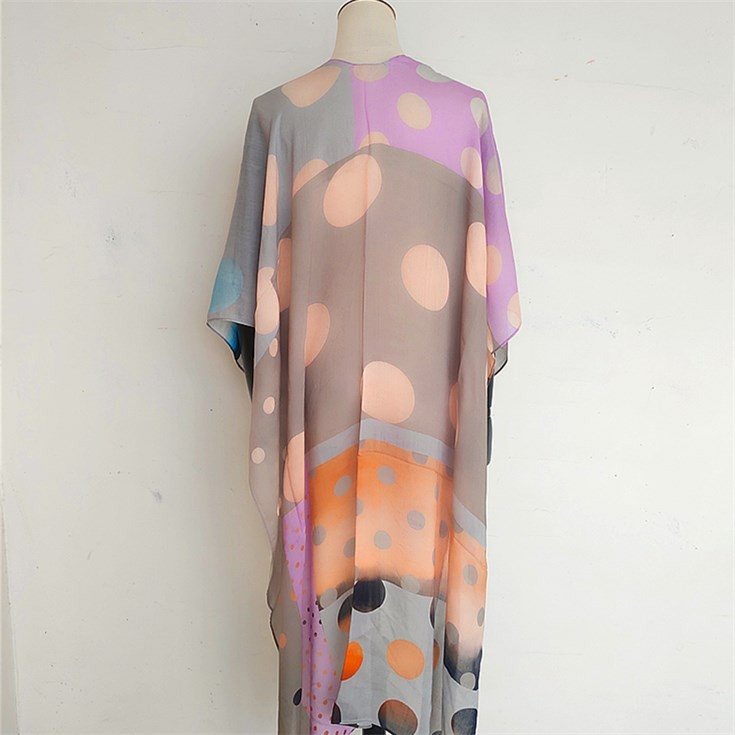 Scarf manufacturer custom printed made kimono shawl scarf with 100 modal twill