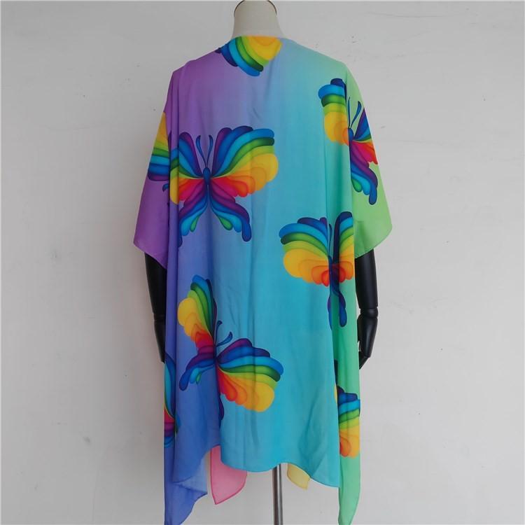 Super soft viscose custom kimono jacket robe dress