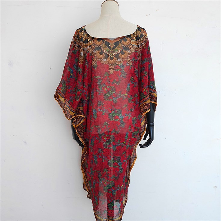 silk scarf manufacturer digital printed custom silk kaftan kimono shawl