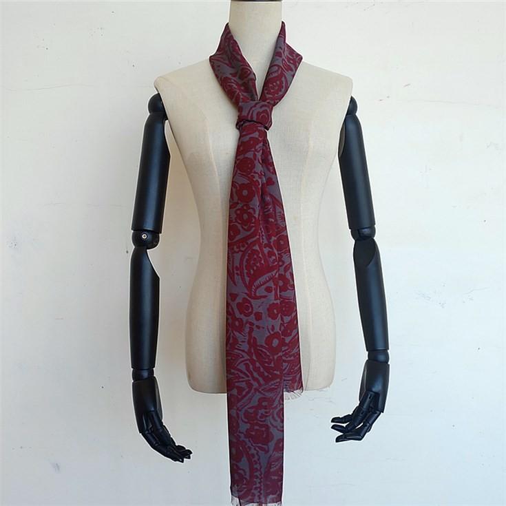 Scarf factory custom men's lightweight long fashion scarf for summer