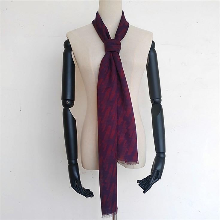 Scarf factory wholesale custom mens skinny scarf