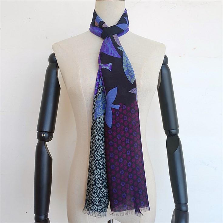 Scarf manufacturer custom designs digital printed luxury mens skinny scarf