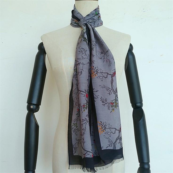 Silk scarf manufacturer digital printing custom scarf for men
