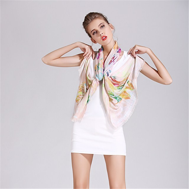 China scarf factory custom photo printed linen scarf