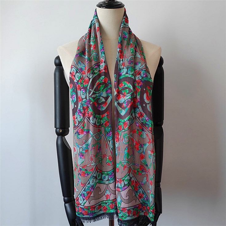 China scarf factory custom photographic images on mixed fabric scarves