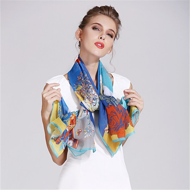 Customized photo digital printed scarf in china scarf factory