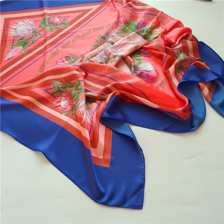 China scarf factory custom silk scarves wholesale