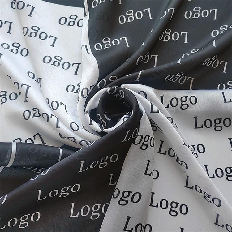 Custom photo and company logo scarf