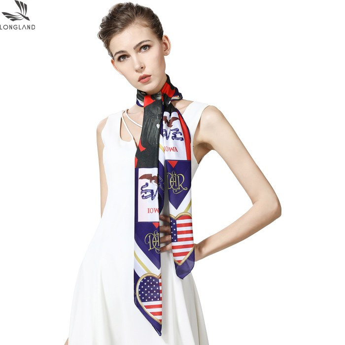 Scarf factory sublimation printed custom designs photos on the new silk scarf