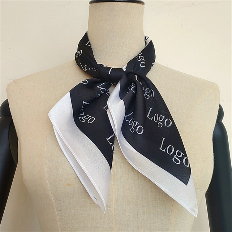 Scarf manufacturer custom company logo scarf printing services