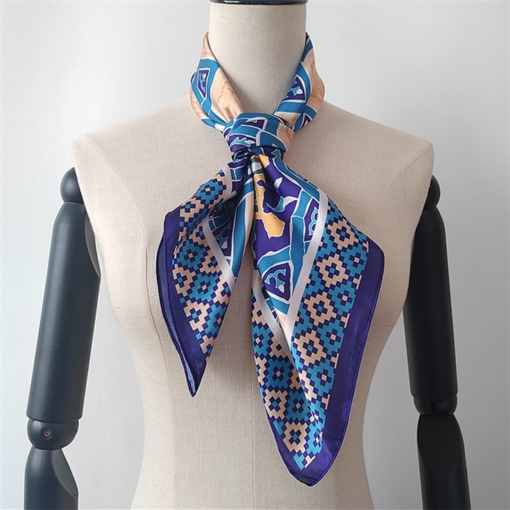 Scarf manufacturer custom silk head scarves with logo