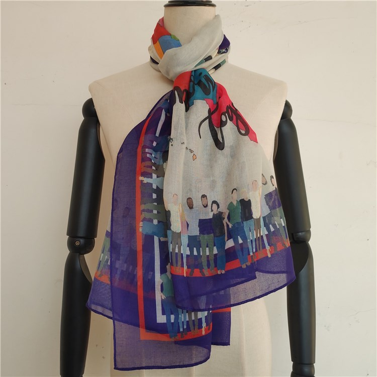 Scarf factory wholesale custom sublimated scarves