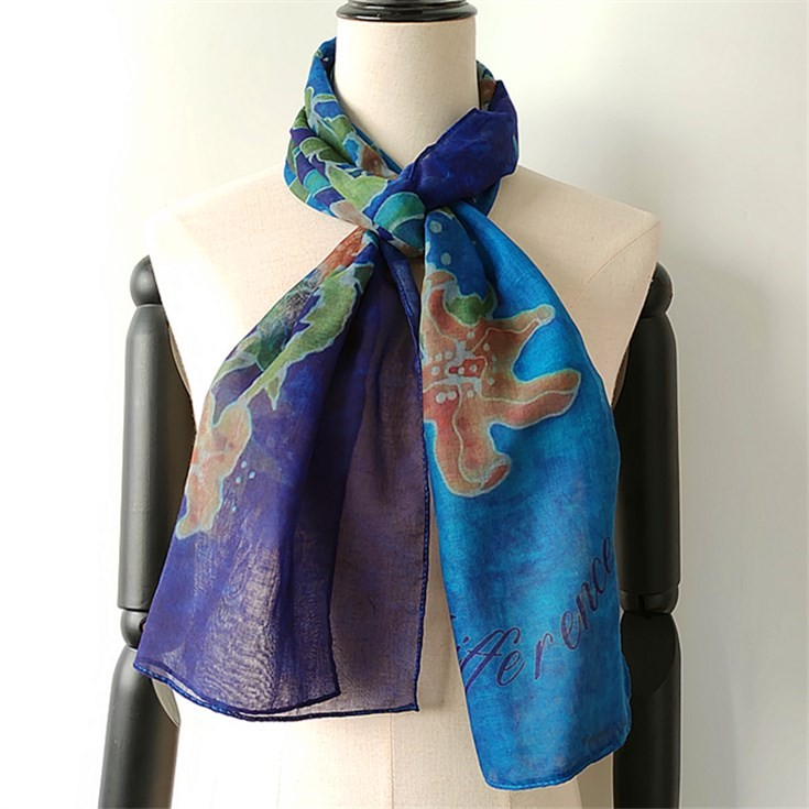 Custom scarf maker print photo on poly voile scarf