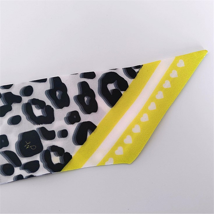 Scarf factory sublimation scarf printing leopard skinny ponytail scarf
