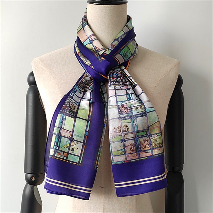 Scarf printer custom silk head scarves with logo