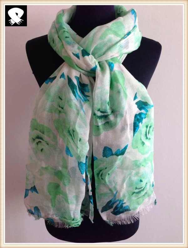 Blossom polyester scarf in china scarf factory