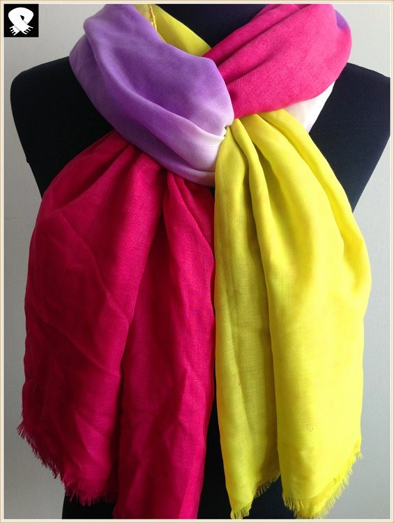 China scarf factory, gradient colors scarf