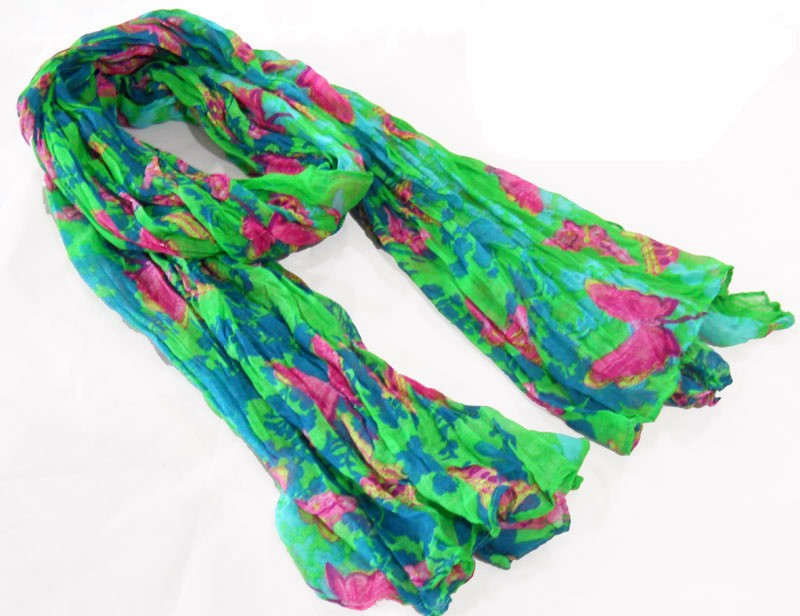 Fashion polyester scarf made in scarf factory