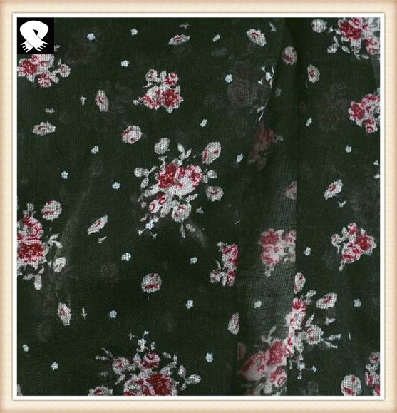 Flowers on the black background scarf