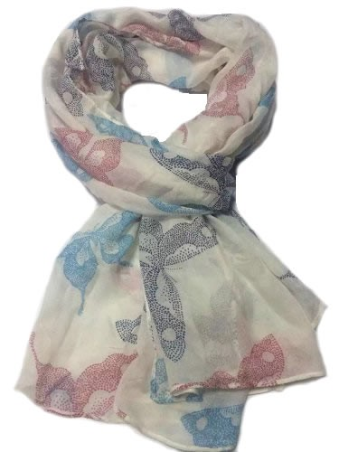 Multi-color butterfly scarf, ladies scarves