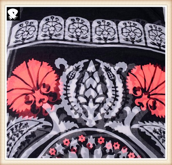 Polyester scarf for women in china scarf factory