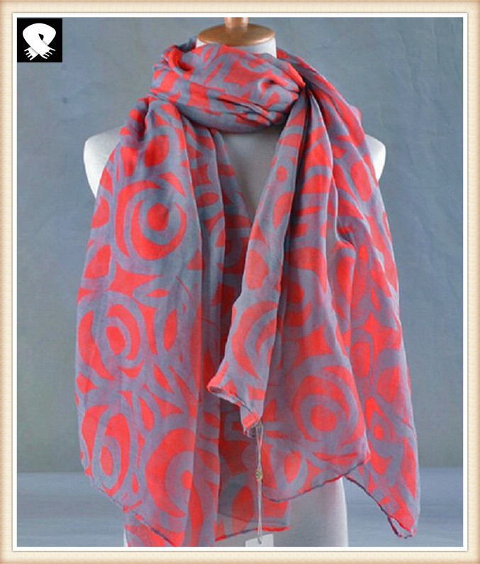 Polyester scarf with super soft handle feel