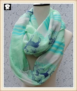 Scarf factory, abstract infinity scarves