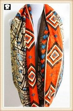 Scarf factory, bohemian folk style scarf
