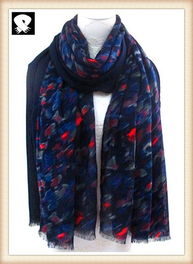 Scarf factory, florals prints polyester scarf