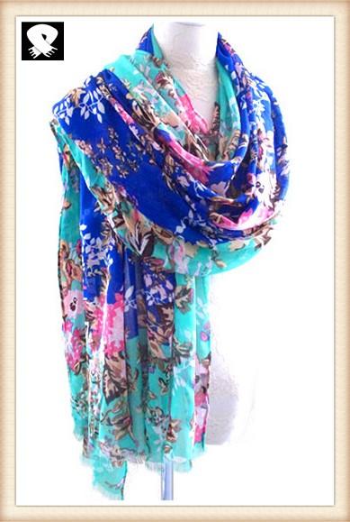 Scarf factory, spring fashion florals scarf