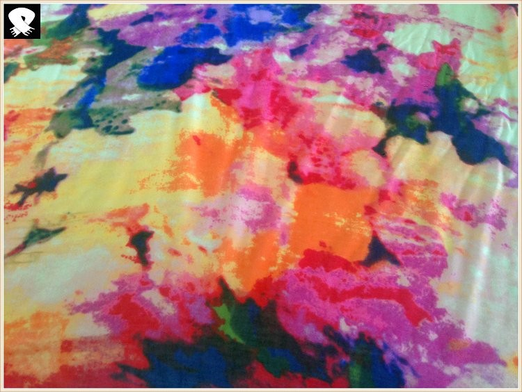 Scarf factory, super abstract flowers scarf