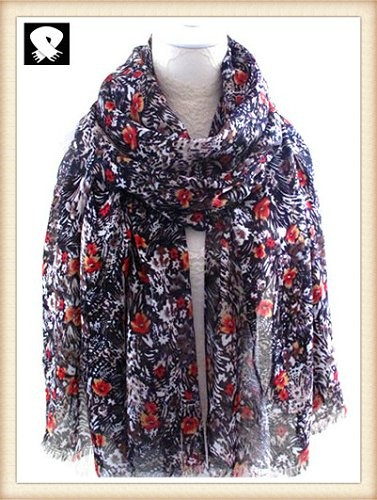 Scarf factory, super fashion florals ladies scarf