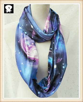 Scarf factory with the firmament polyester scarf