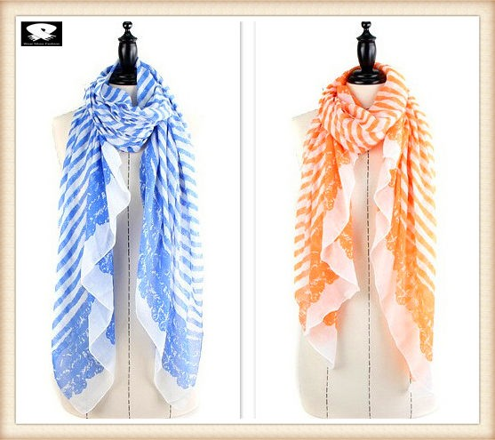 Spring polyester scarf bespoke with more colors