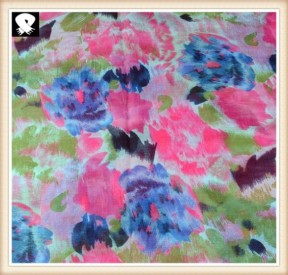 Spring thin colorful scarf with more colors