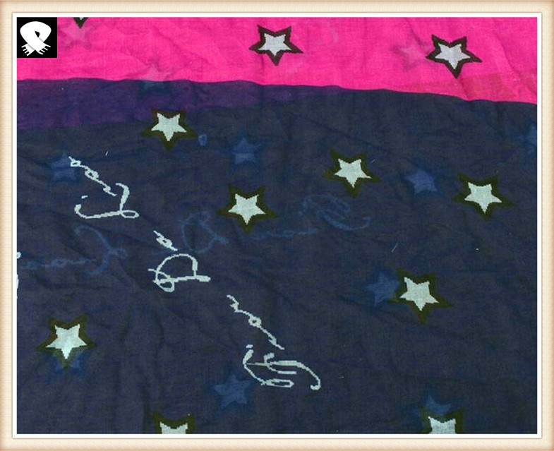 Stars infinity scarves bespoke with your colors