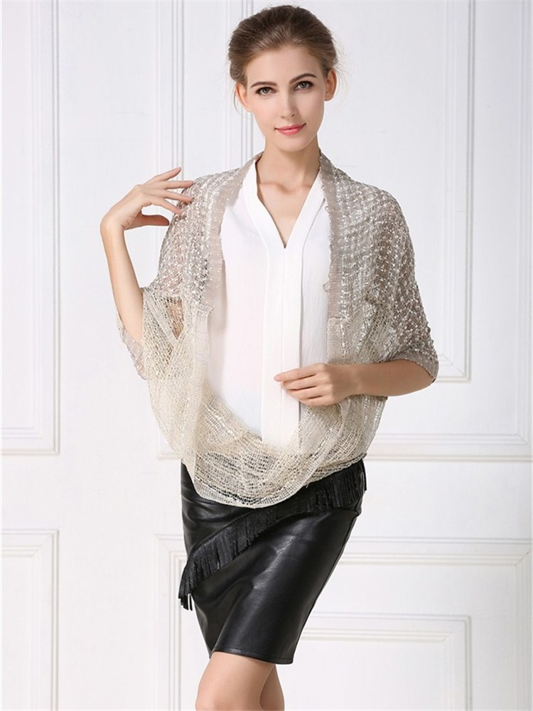 Stylish mesh scarves for women from scarf factory