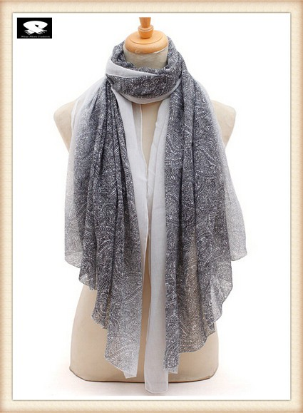 Stylish paisley scarf from china scarf factory