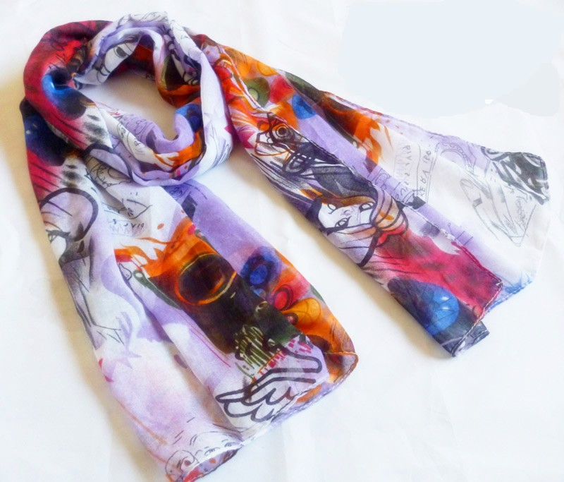Stylish polyester scarves