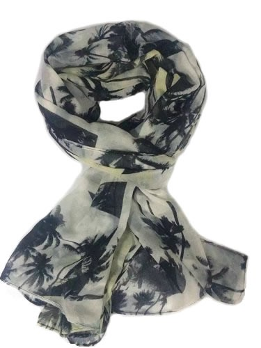 Super fashion coconut tree polyester scarf