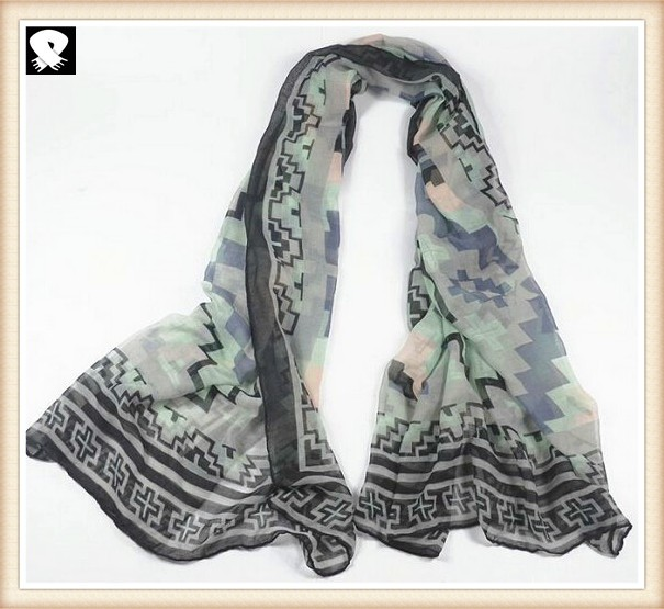 Super soft geo scarves for women