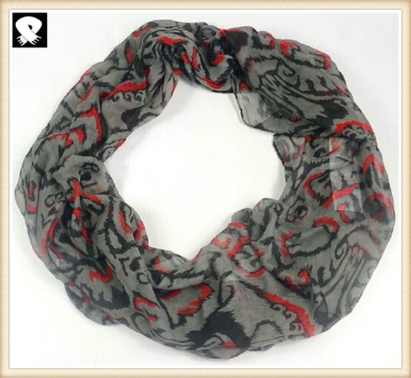 Vintage infinity scarves bespoke with your design