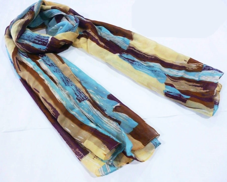 abstract scarf made in China scarf factory