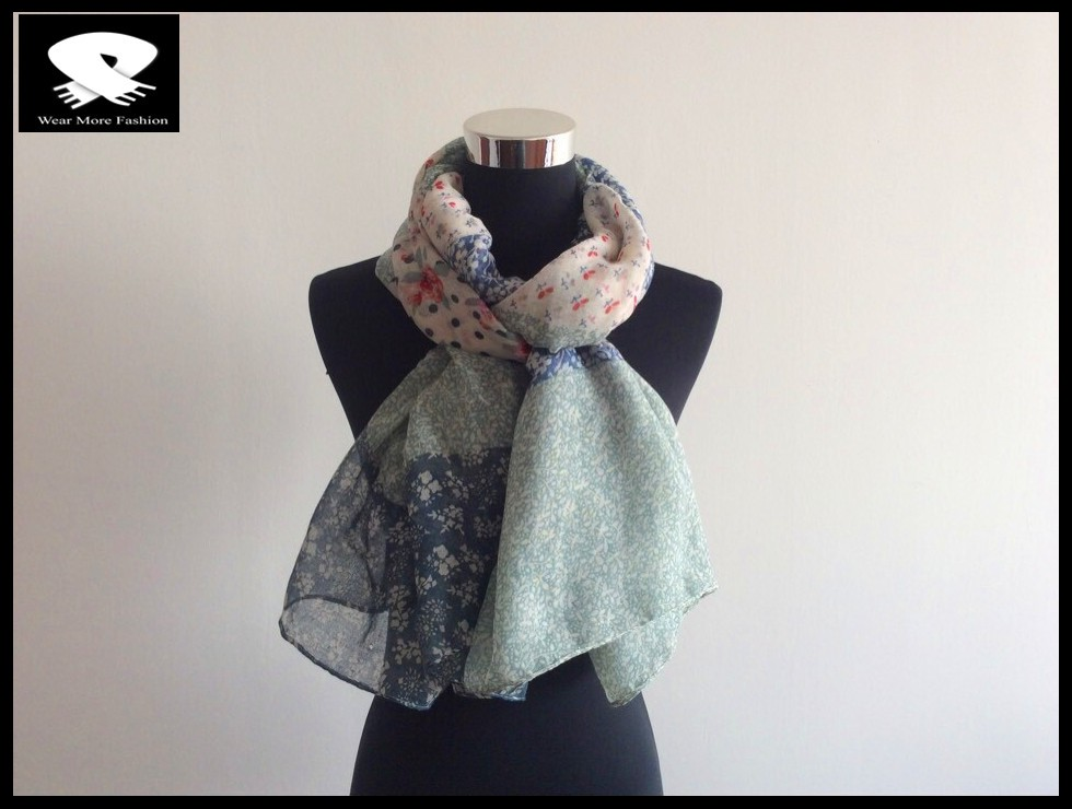 best-sale Small flowers polyester scarf