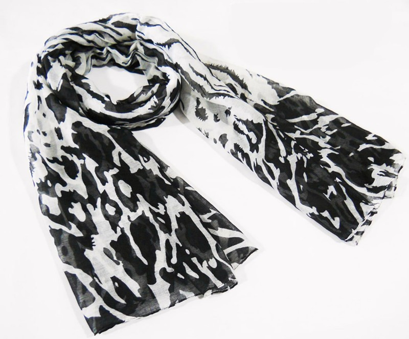 black leopard scarf made in China scarf factory