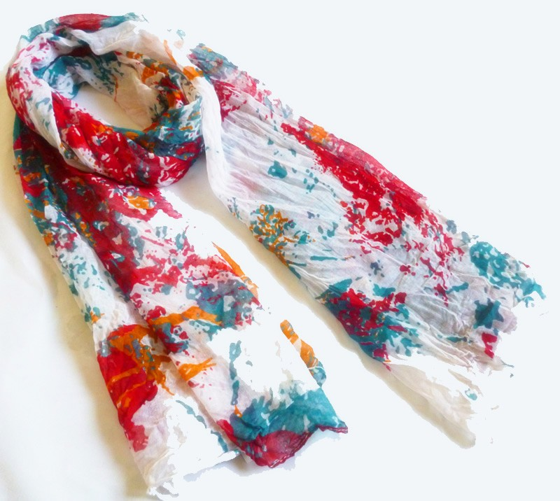 fashion floral printed polyester scarf