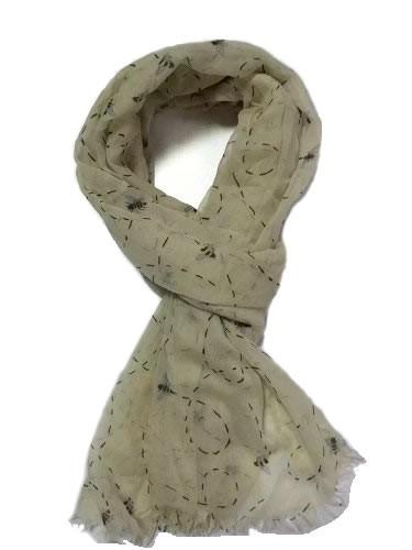 honeybee pattern polyester scarf, ladies scarves
